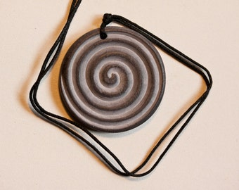 Spiral Stone Carved Necklace