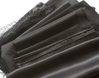 All Black Fabric Surprise Scrap Pack Fancy Designer Fabrics