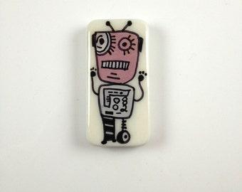 Peacebot # 82 Hand Painted Robot  Robot Art  Robot Gear  Robot Jewelry Robot Key Chain