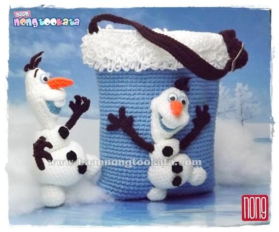 Crochet Frozen Doll Free Pattern : Olafs From Frozen Crochet Doll Pattern Design by nong