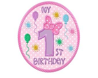My 1st Birthday Applique Machine Embroidery DESIGN NO. 90