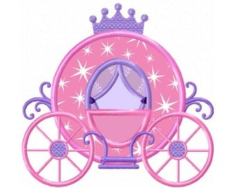Princess Carriage...Instant Download...Applique Machine Embroidery DESIGN NO. 65