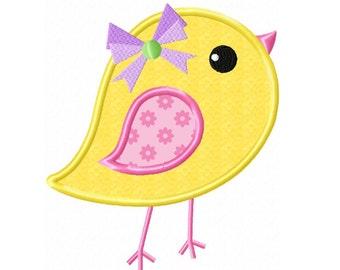 Girl Chick 2 Applique Machine Embroidery DESIGN NO. 227