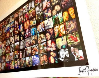 collage frame large photo album wall decor picture frame bespoke