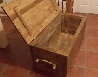 Chunky Rustic Toy Box or Blanket Box 034