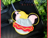 Boutique Custom Dumbo Travel Luggage Tag **MDCT**  -- You can personalize your tag or use it as an identifier
