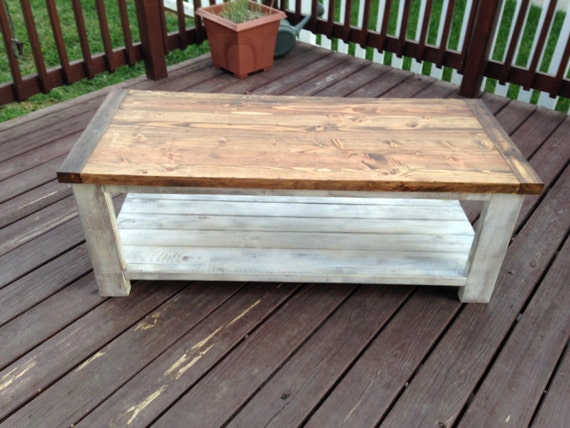 Items Similar To Reclaimed Pine White Washed Coffee Table On Etsy