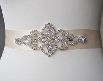 Sale Rhinestone Sash, Bridal Sash,Wedding Dress Sash Belt, Rhinestone Bridal Bridesmaid Sash Belt, Wedding dress sash
