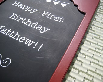 Custom vinyl lettering! Great for use on chalkboards or walls to change with holidays or events all year long!