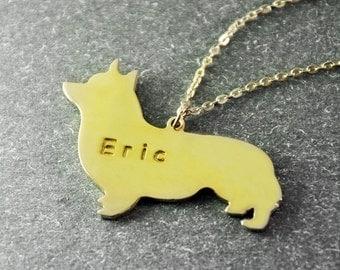 Free shipping  -welsh corgi   necklace  welsh corgi   pendant  Customized dog necklace  custom dog's name jewelry