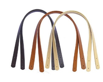1 Pair of 55 cm PU Leather Handbag Strap Handles
