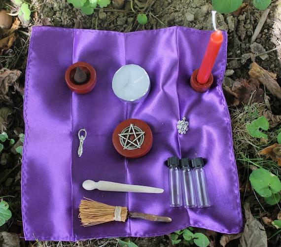 Wiccan Wedding Altar: Pagan Altar Kit Pocket Altar Box Travel Altar By