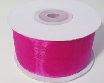 Sheer Organza Ribbon - Fuchsia - 25 Yards