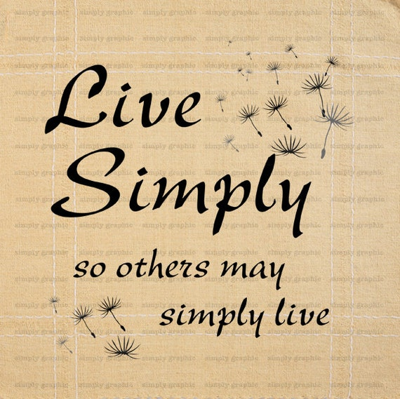 Printable digital wall art live simply sign by for Live simply wall art