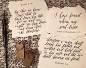 Lauren Allison's Custom Calligraphy Verse - 2 8x10 - Listing No. 186876631