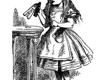 Alice in Wonderland - Temporary tattoo