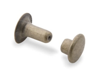 Rapid Rivets Large Antique Brass Plated 100/pk 1275-15