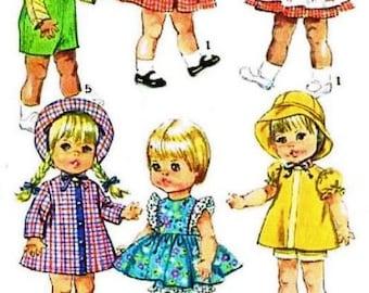 "18"" Toddler Doll Wardrobe Pattern"