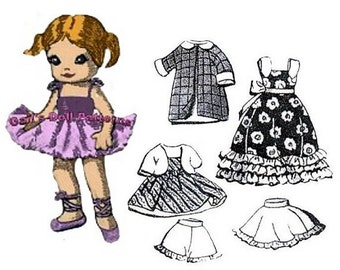 "Wardrobe Pattern #5 for Ginny Doll & Other 7-1/2"" to 8"" Doll"