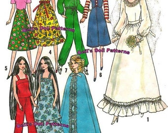 Barbie Wardrobe Pattern #1 For 11.5 inch Fashion Dolls