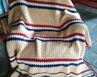 PTT Post blanket-Dutch afghan
