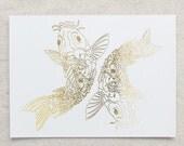 Zodiac - Pisces Fish Foil Print