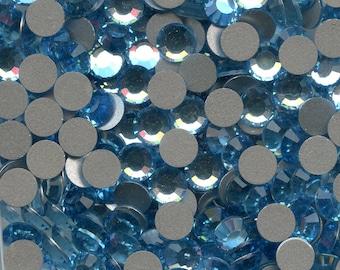 2012 SS20 AQ*** 30 Swarovski rhinestones flat back SS20 (4,7mm) aquamarine