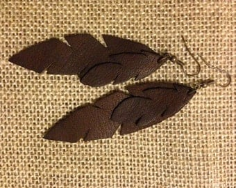feather inspired earrings