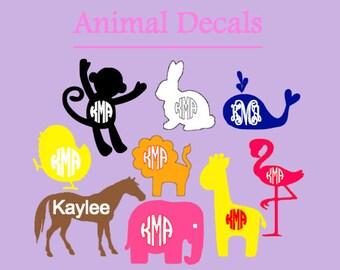 Animal Monogram Decals
