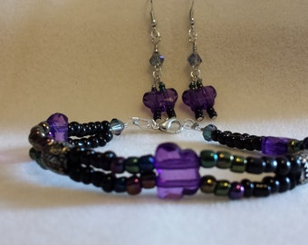 Butterfly Focal Bracelet And Earring Set
