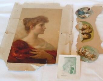 Vintage beauties paper ephemera