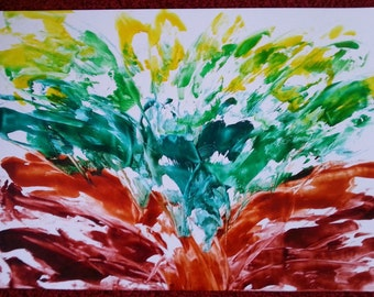 Flow series painting Flowering A2