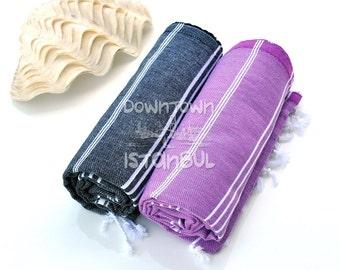 Guest Towel Set of 2 Turkish Bath Towel - Turkey Peshtemal France Linen Towel Sea Beach Towel Beach Wedding Swim Cover Up Beach Sarong Towel