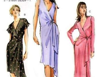 Vogue 7898 Ethereal Dress with Side Tie 2004 / SZ18-22 UNCUT