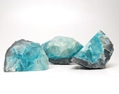 Blue & Gray Topaz Geode Shaped Soap Set
