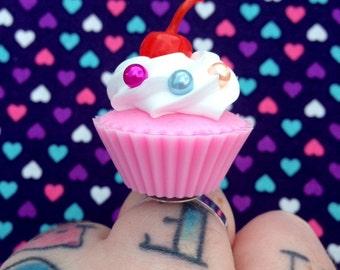 Huge Cherry Cupcake Ring