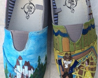 Beauty and the beast TOMS off brand shoes