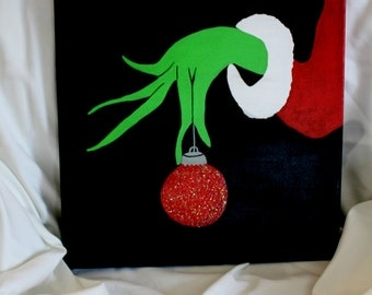 Hand Painted 11x14 The Grinch