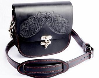 Handbag. Leather Handbag. Ladies Leather Handbag. Black Leather Handmade Handbag.Luxury Black Leather Handbag, Handmade Black Shoulder Bag.