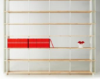 Modular Bookcase SKAFFA solid Wood Bücherregal Massiv Holz étagère H.252