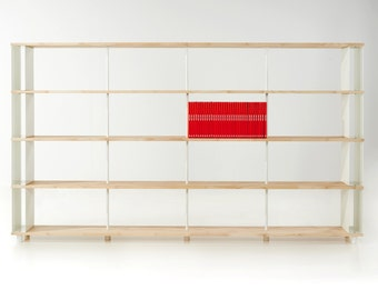 Modular Bookcase SKAFFA LEGNO Solid Wood Bücherregal Massiv Holz étagère H.171