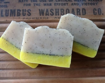 Lemongrass Green Tea Homemade Lye Soap Handmade Cold Process Soap