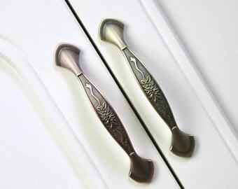 Cabinet Handles Dresser Drawer Pulls Handles Gold Brass / Kitchen Cupboard  Antique Furniture Handle Pull Hardware