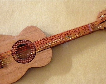 """Acoustic Guitar Kit - 1"""" scale - Laser Cut from Cherrywood - Lovely Musical Instrument"""