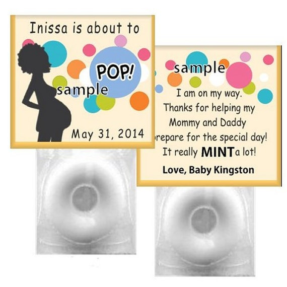 50 baby shower favors complete lifesaver mints personalized about to