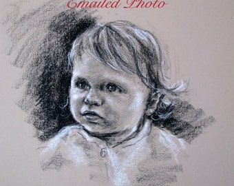 Custom Charcoal Portraits of Children from Your Emailed Photo
