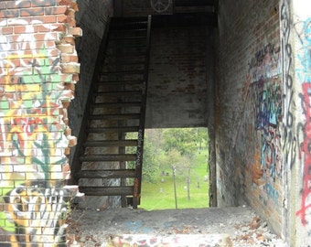 Passing Through~ **Art**Detroit**Unedited**Wall Art* *Office Art**Photography**Print**  **Decor**Design**Photographic Art** *Packard Plant*