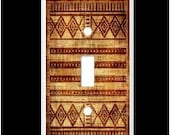 AFRICAN CLOTH  # 1 Light Switch cover plate or outlet Image of cloth  Free Shipping!!!  You pick plate size