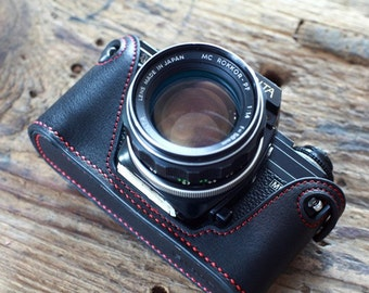 Minolta X700 X300 cameras case, leather camera case, Minolta X700 Half Case,Leather Camera Case