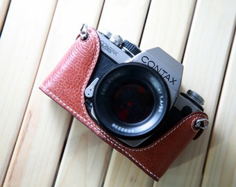 For Contax S2 Leather Cameras Case, S2 Camera Case, Handmade Simple Leather Camera Case, S2 Half Case Leather